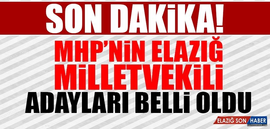 MHP'nin Elazığ Milletvekili Adayları Belli Oldu
