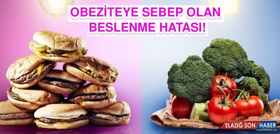 Obeziteye Sebep Olan Beslenme Hatası