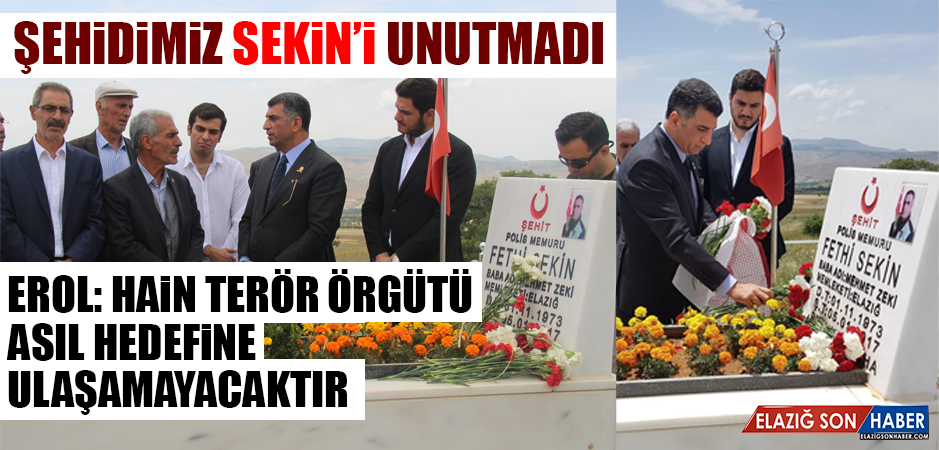 CHP Milletvekili Adayı Erol, Şehit Sekin'i Kabrinde Ziyaret Etti
