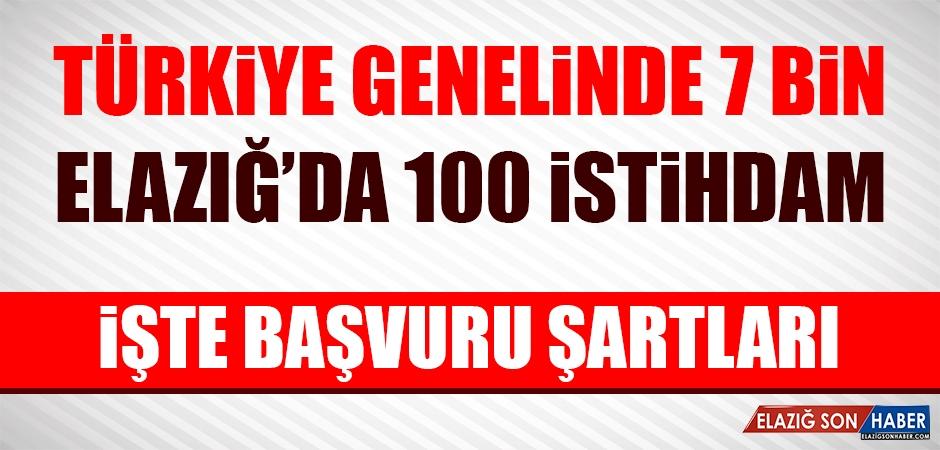 Elazığ'da 100 Kişilik Alım Yapılacak