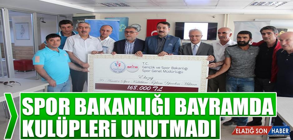 Elazığ'da 36 Amatör Spor Kulübüne Toplam 168.000 Bin TL Yardım Yapıldı