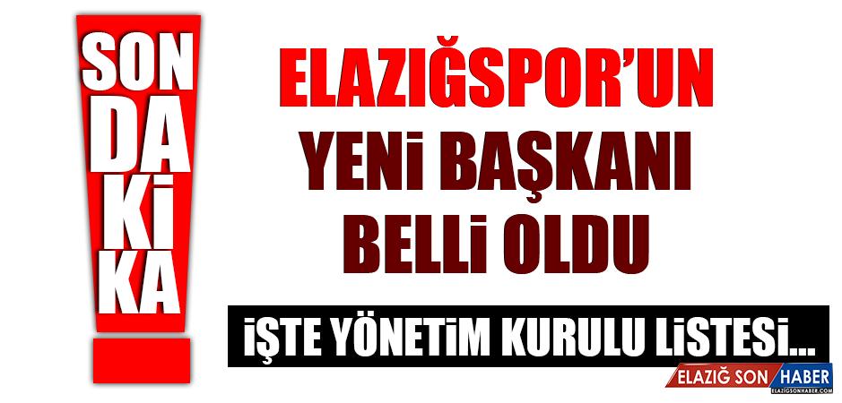 Elazığspor'un yeni başkanı belli oldu…