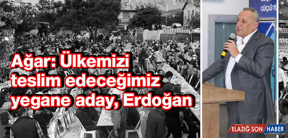 Mehmet Ağar, Baskil'de İlgiyle Karşılandı