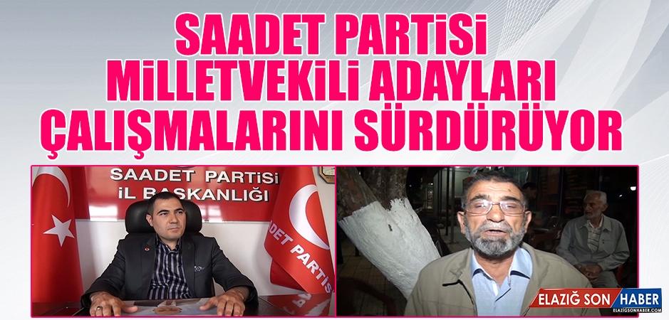 Saadet Partisi Elazığ Milletvekili Adayları, Yurtbaşı'nda