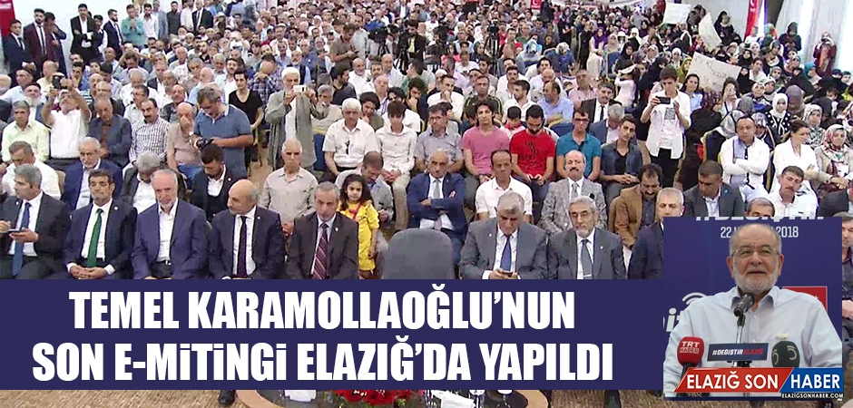 Temel Karamollaoğlu Elazığ'da