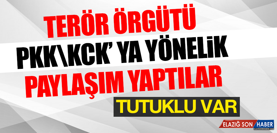 Terör Örgütü PKK \ KCK' ya Yönelik Paylaşım Yaptılar