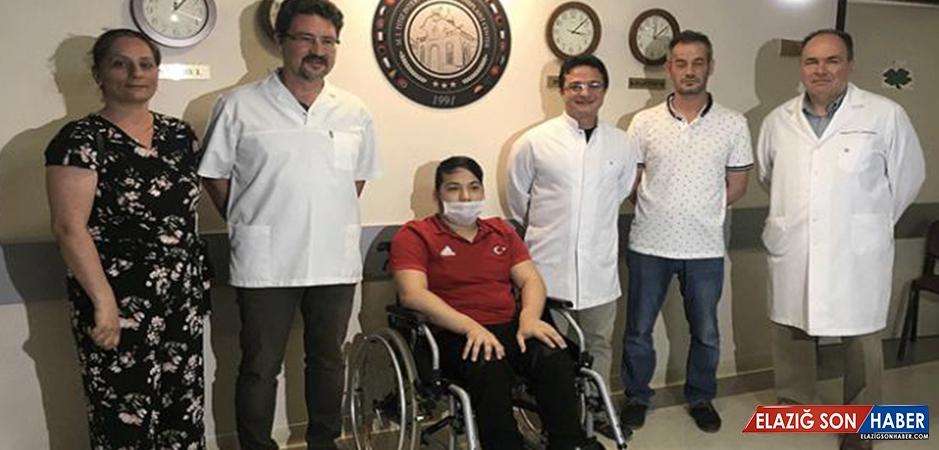 Engelli Milli Sporcu Babasının Böbreğiyle Yaşama Tutundu