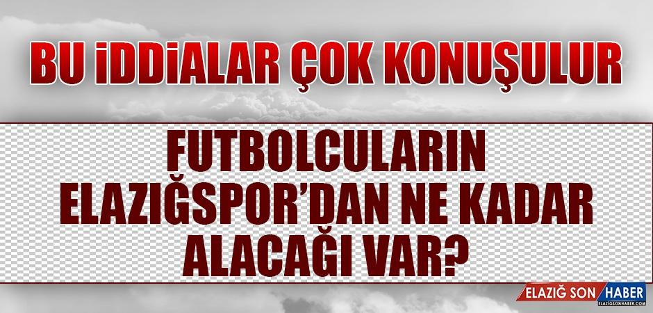 Futbolcuların Elazığspor'dan Ne Kadar Alacağı Var?