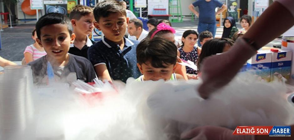 Gaziantepli Çocuklar Azotla Dondurma Yaptı