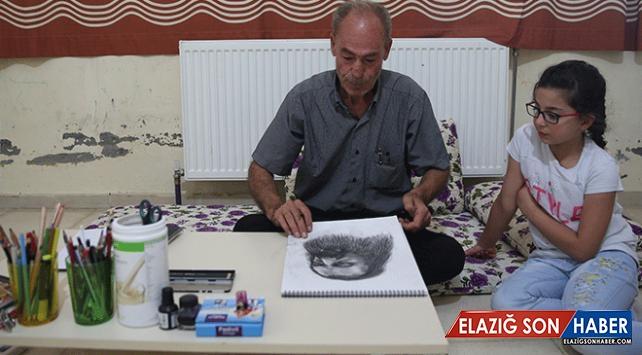 Savaş Mağduru Ressam, Suriyeli Çocuklar İçin Çiziyor