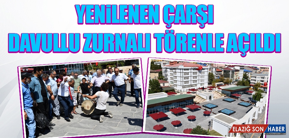 Tunceli'de Yenilenen Çarşı Davullu Zurnalı Törenle Açıldı