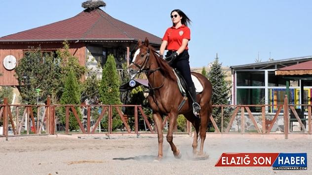 Atlı birliğin kadın süvarisi vatandaşların güvenliğini sağlayacak