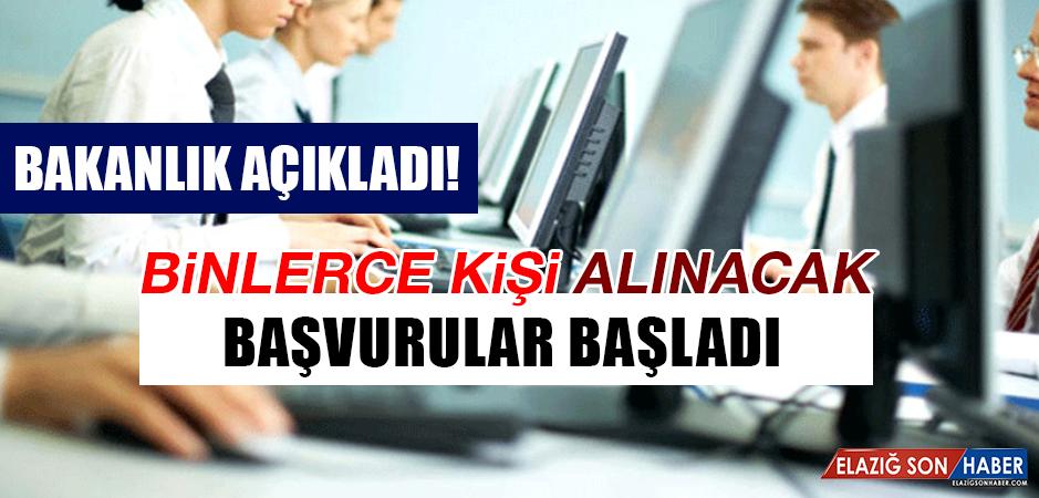 BİNLERCE KİŞİ ALINACAK