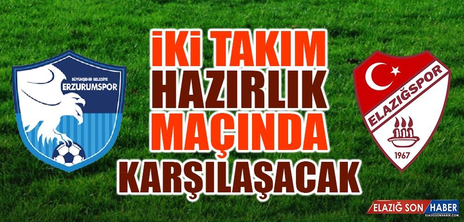BŞB Erzurumspor İle TY Elazığspor Pazar Günü Erzurum'da Karşılaşacak