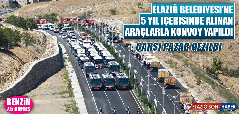 Elazığ Belediyesi'ne Alınan Araçlarla Konvoy Yapıldı