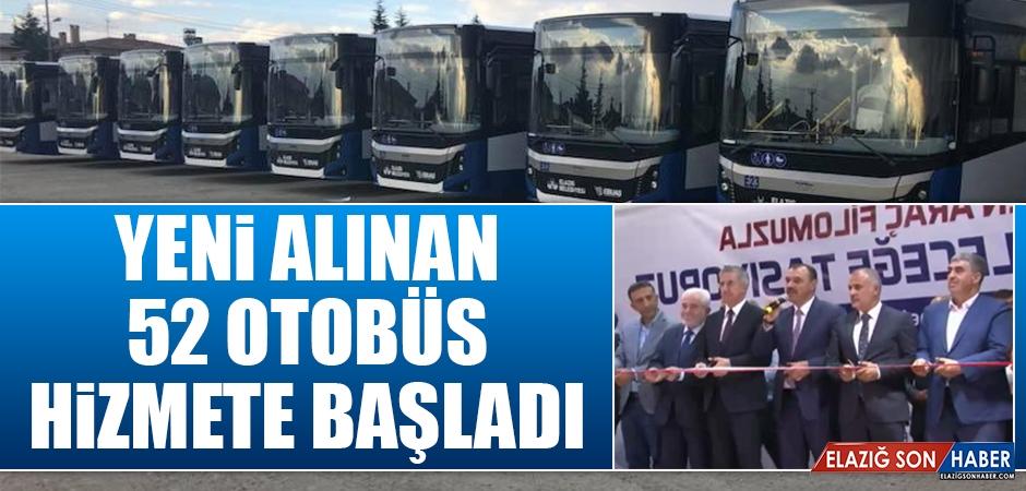 Elazığ'da 52 Otobüs Hizmete Başladı