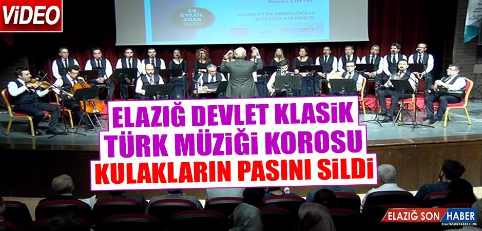 Elazığ Devlet Klasik Türk Müziği Korosu Sezonun İlk Konserini Verdi