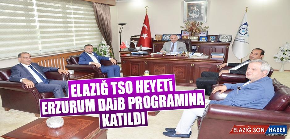 Elazığ TSO Heyeti Erzurum DAİB Programına Katıldı