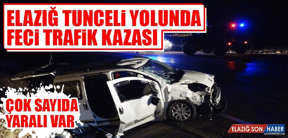 Elazığ Tunceli Yolu Kanoğlu Mevkiinde Trafik Kazası