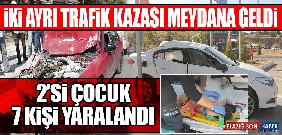 İki Farklı Kazada 2'si Çocuk 7 Yaralı Var!