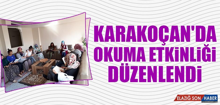 Karakoçan'da Okuma Etkinliği Yapıldı