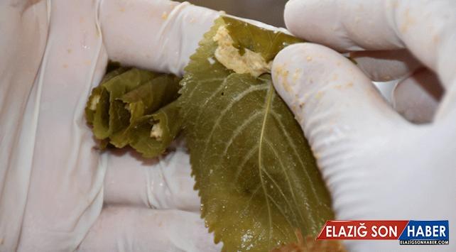 Malatya'nın sevilen lezzeti: Kiraz yaprağı sarması