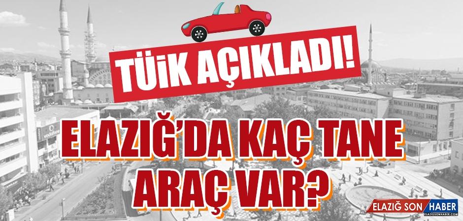 Temmuz Ayı Elazığ'ın Araç Sayısı Belli Oldu