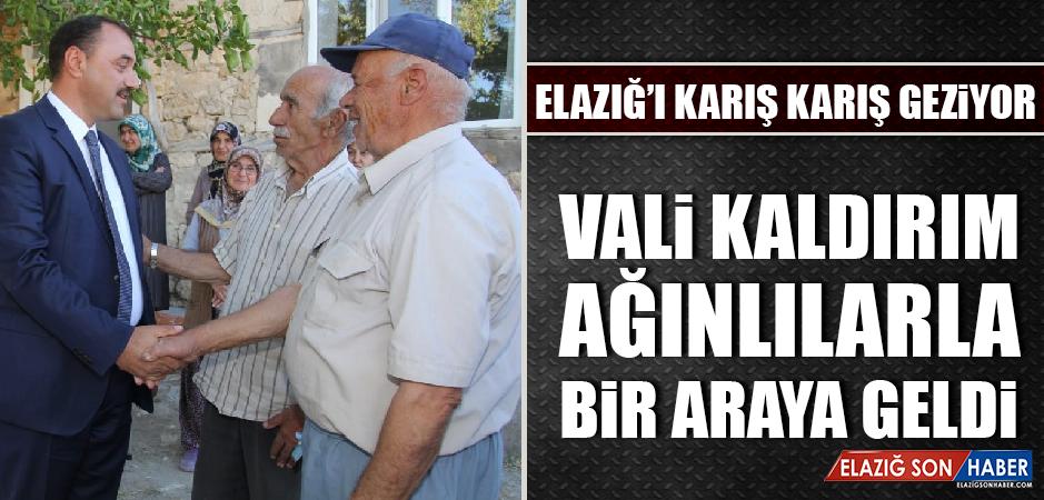 Vali Kaldırım Ağın'da Şehit Ailesini ve Köyleri Ziyaret Etti