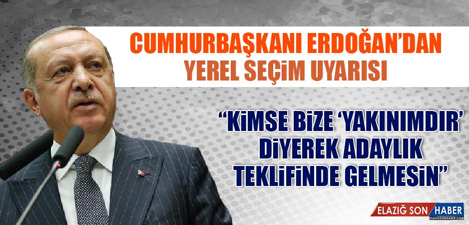 Cumhurbaşkanı Erdoğan'dan Yerel Seçimlerle İlgili Teşkilata Uyarı