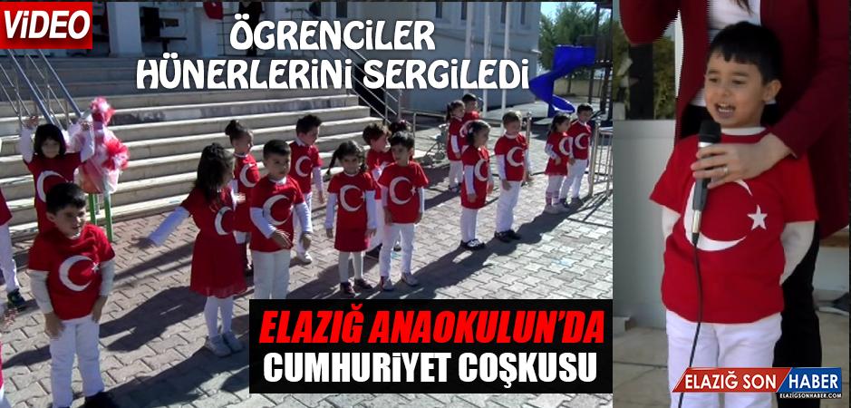 Elazığ Anaokulunda Cumhuriyet Coşkusu