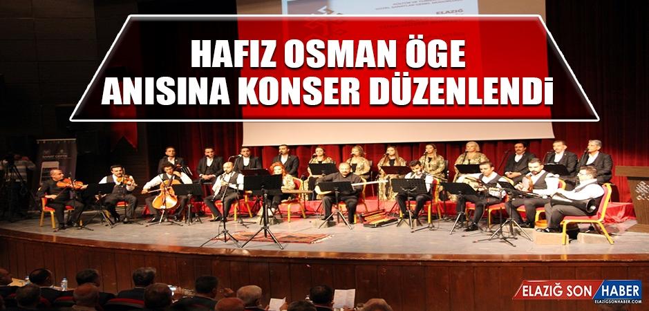Hafız Osman Öge Anısına Konser Düzenlendi
