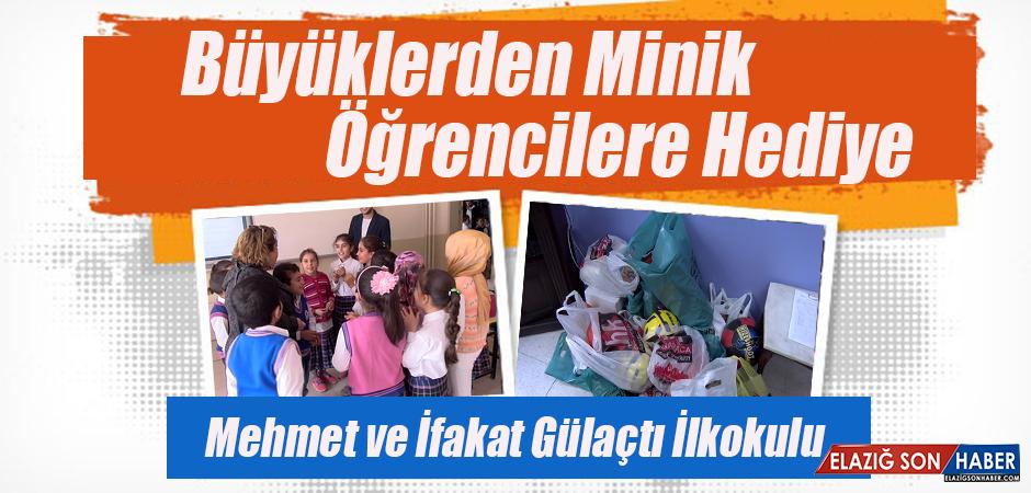 Mehmet ve İfakat Gülaçtı İlkokulu'na Hediyeler Verildi