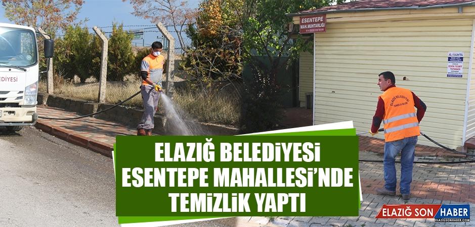 Elazığ Belediyesi Esentepe Mahallesi'nde Temizlik Yaptı