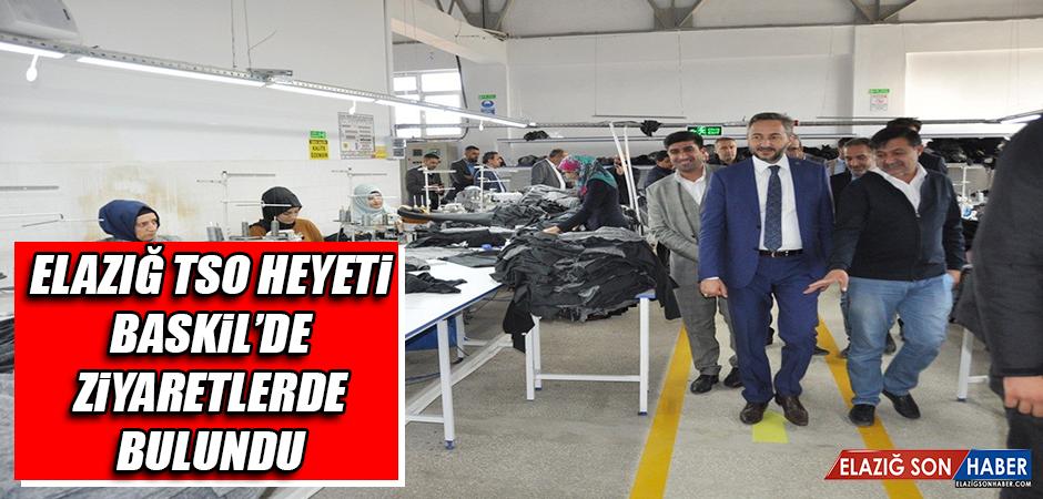 Elazığ TSO Heyeti Baskil'de