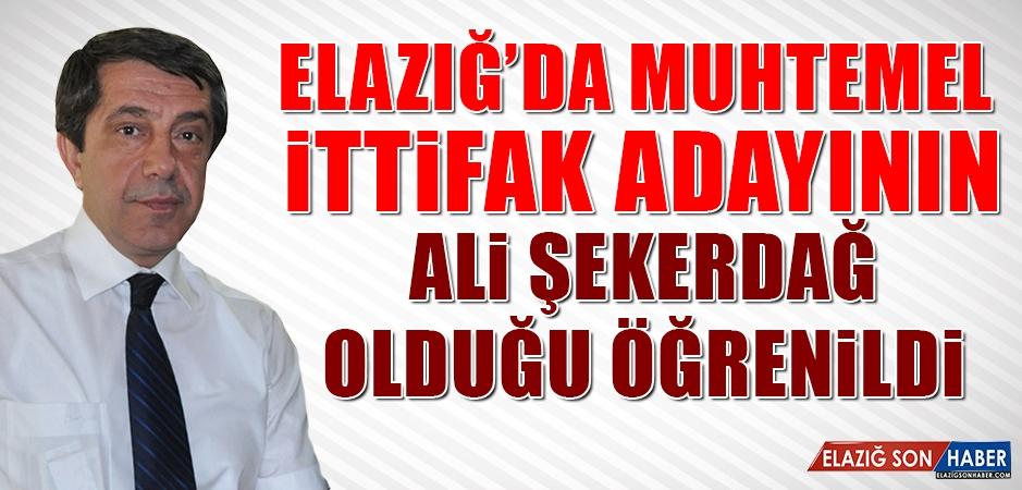 Elazığ'da Muhtemel İttifak Adayının Ali Şekerdağ Olduğu Öğrenildi!