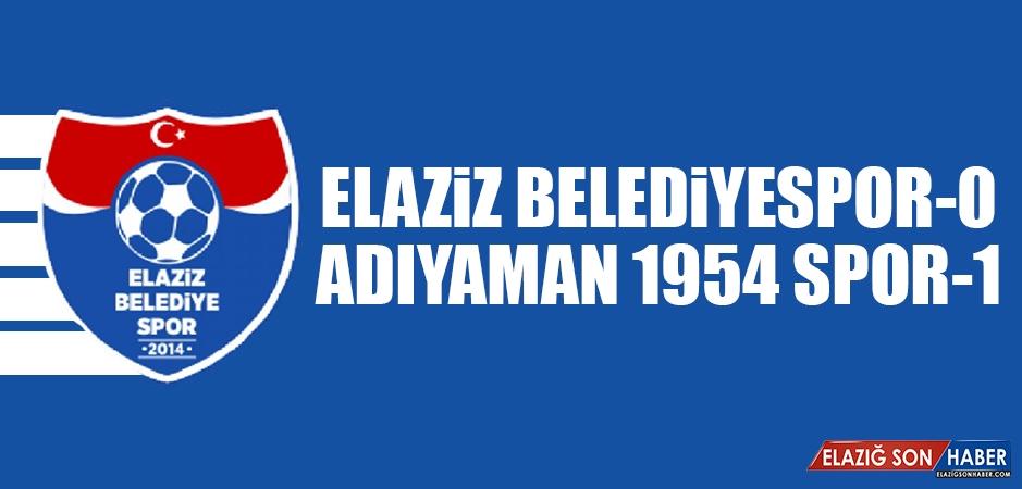 Elaziz Belediyespor 0-1 Adıyaman 1954 Spor