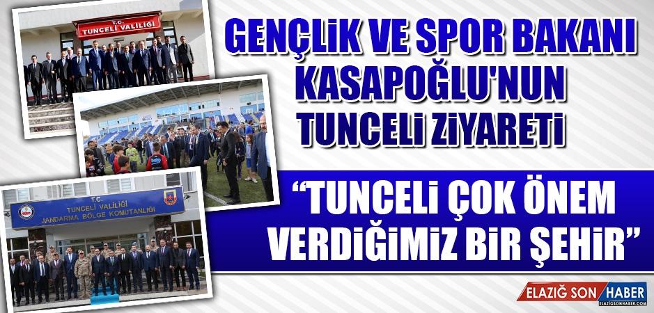 Gençlik ve Spor Bakanı Kasapoğlu'nun Tunceli Ziyareti