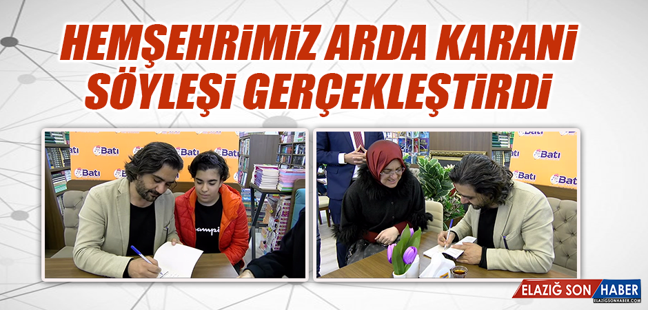 Hemşerimiz Yazar Arda Karani Söyleşi Programı Gerçekleştirdi