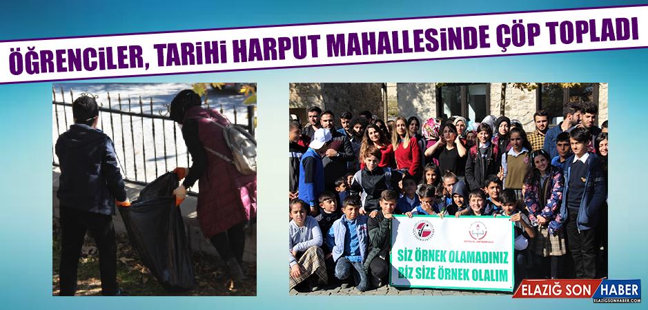 Öğrenciler, Tarihi Harput Mahallesinde Çöp Topladı