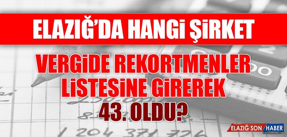Türkiye'nin rekortmenleri listesinde Elazığ'dan da Bir Şirket Var