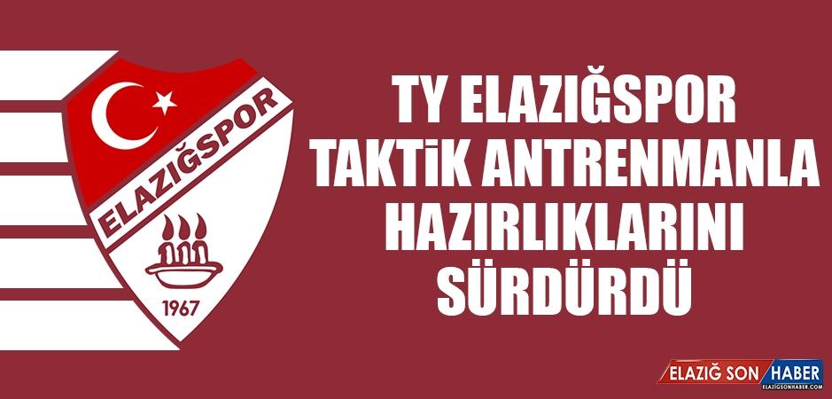 TY Elazığspor Taktik Antrenmanla Eskişehir Hazırlıklarını Sürdürdü