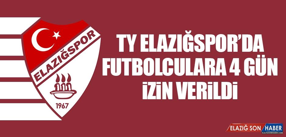 TY Elazığspor'da Futbolculara 4 Gün İzin Verildi