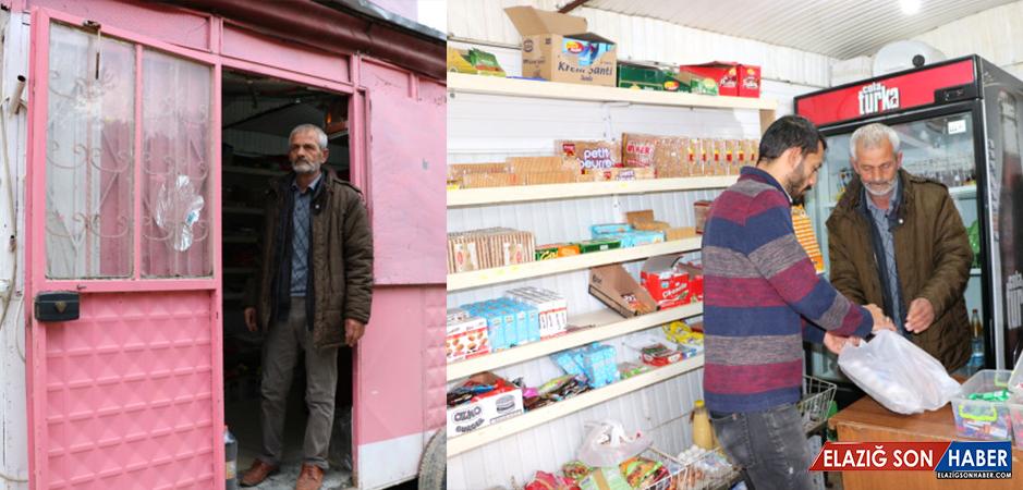 13 Yıldır Seyyar Bakkal Hizmeti Veren Muhtara Köy Halkı Dua Ediyor