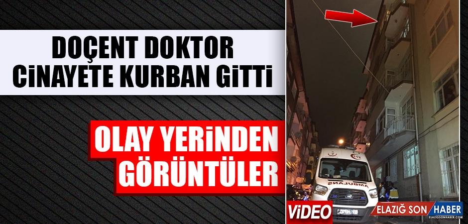 Elazığ'da Doçent Doktor Öldürüldü! Olay Yerinden İlk Görüntüler