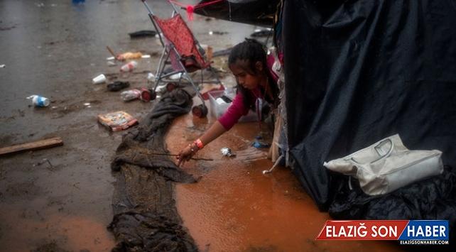 Meksika sınırındaki göçmenlerin zorlu yaşamı