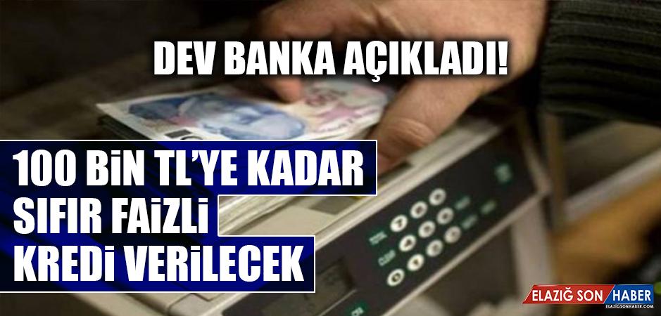 100 Bin TL'ye Kadar Sıfır Faizli Kredi Verilecek