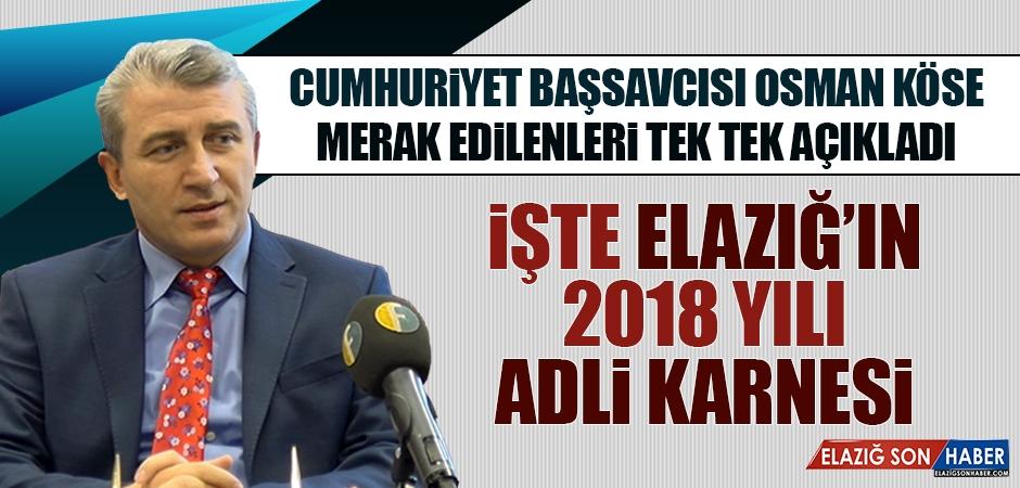Başsavcı Köse 2018 Yılını Değerlendirdi