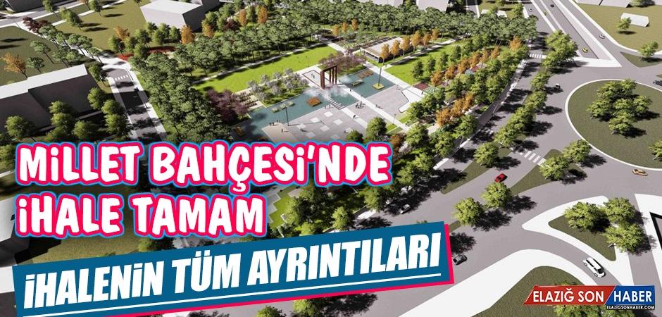 Elazığ Millet Bahçesi'nin İhalesi Yapıldı
