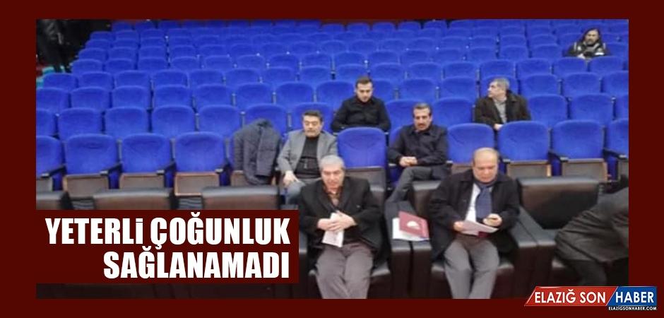 Elazığspor'da Yeterli Çoğunluk Sağlanamadı