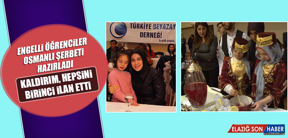 Engelli Öğrenciler, Osmanlı Şerbeti Hazırladı
